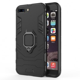 Kisscase Armor Hard Case with Ring Holder for iPhone XS - 147423 - Black - 2