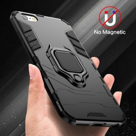 Kisscase Armor Hard Case with Ring Holder for iPhone XS - 147423 - Black - 4