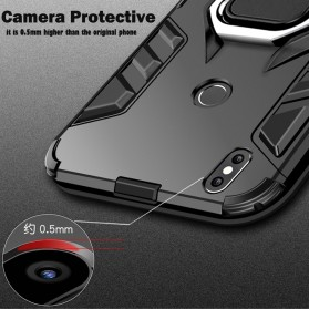 Kisscase Armor Hard Case with Ring Holder for iPhone XS - 147423 - Black - 6