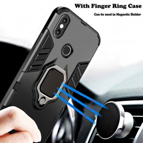 Kisscase Armor Hard Case with Ring Holder for iPhone XS - 147423 - Black - 7