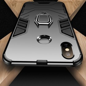 Kisscase Armor Hard Case with Ring Holder for iPhone XR - 147423 - Black - 5