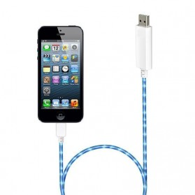 NOOSY Visible Flowing Current Flash Cable for Apple 8 Pin - CK-VS803 - White