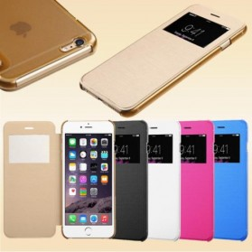 NOOSY Smart Leather Case for iPhone 6 Plus - TP03-6Plus - White