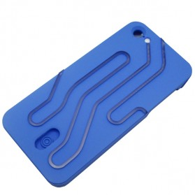 NOOSY Light Up Case Flashing LED for iPhone 5/5s - Model Road Series - Blue