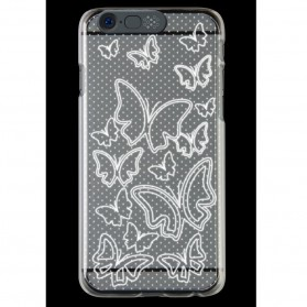 NOOSY Light Up Case Flashing LED for iPhone 6 - Model Butterfly - Transparent