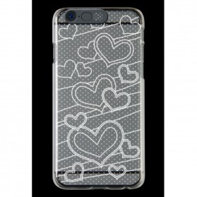 NOOSY Light Up Case Flashing LED for iPhone 6 Plus - Model Love - Transparent