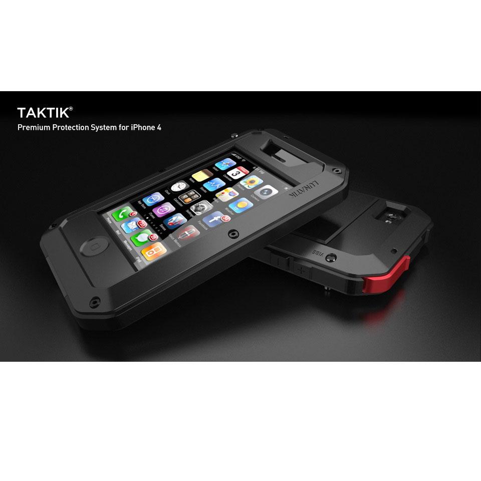 Lunatik Taktik Extreme Hardcase With Gorilla Glass For Iphone 4 4s 100 Aksesoris Hp Black 6