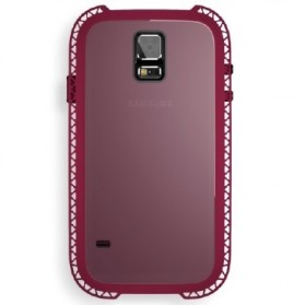 Lunatik Seismik Suspension Frame Softcase for Samsung Galaxy S5 - Dark Raspberry