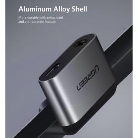 UGREEN Adapter USB Type C to AUX 3.5mm Headphone + USB Type C - 50596 - Black - 4