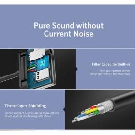 UGREEN Adapter USB Type C to AUX 3.5mm Headphone + USB Type C - 50596 - Black - 5