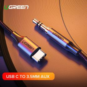 UGREEN Kabel USB Type C ke AUX 3.5mm HiFi 1 Meter - AV143 - Gray