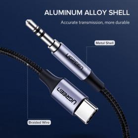 UGREEN Kabel USB Type C ke AUX 3.5mm HiFi 1 Meter - AV143 - Gray - 5