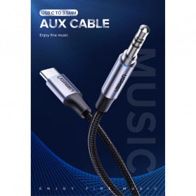 UGREEN Kabel USB Type C ke AUX 3.5mm HiFi 1 Meter - AV143 - Gray - 7