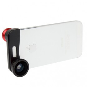 Lesung Lensa Fisheye 3 in 1 Quick Change Camera for iPhone 5/5s/SE - LX-S001 - Red - 4
