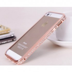 SULADA Bumber Frame Diamond Series for iPhone 5/5s - Rose Gold