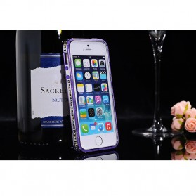 SULADA Bumber Frame Colorful Border Series for iPhone 4/4s - Purple