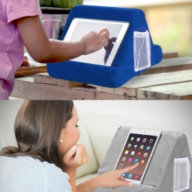 WULILLS Dudukan Holder Stand Multi-Angle Soft Sponge Pillow for iPad iPhone Macbook - YAM233 - Black - 4