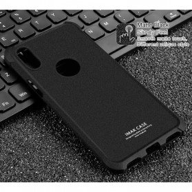 Imak Anti Crack TPU Silicone Softcase for iPhone X - Matte Black - 2