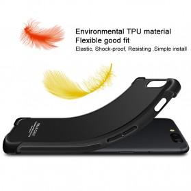Imak Anti Crack TPU Silicone Softcase for iPhone X - Matte Black - 3