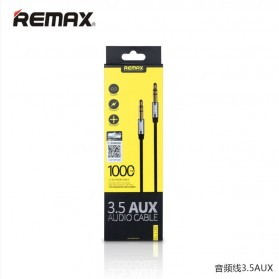 Remax AUX Cable 3.5mm 1 Meter for Headphone Speaker Smartphone RL-L100 - Black - 3