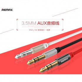 Remax AUX Cable 3.5mm 1 Meter for Headphone Speaker Smartphone RL-L100 - Black - 4