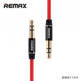 Remax AUX Cable 3.5mm 1 Meter for Headphone Speaker Smartphone RL-L100 - Red