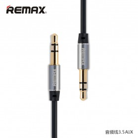 Remax AUX Cable 3.5mm 2 Meter for Headphone Speaker Smartphone RL-L200 - Black