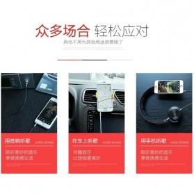 Remax AUX Cable 3.5mm 2 Meter for Headphone Speaker Smartphone RL-L200 - Black - 5
