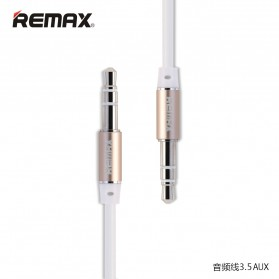 Remax AUX Cable 3.5mm 2 Meter for Headphone Speaker Smartphone RL-L200 - White - 1
