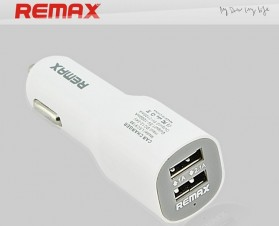 Remax Duck Shape USB Car Charger 2 Port 5V 2.1A - CC201 - White - 2