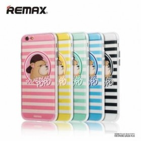 Remax Popo Polar Bear Series TPU Protective Soft Case for iPhone 6s Plus - Black