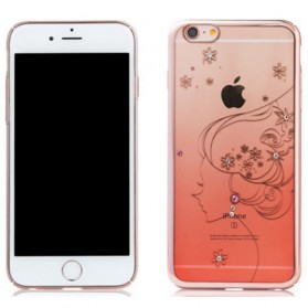 Remax Diamond Fairy Series TPU Protective Soft Case for iPhone 6/6s - Pink