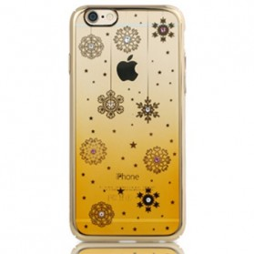 Remax Diamond Snowflake Series TPU Protective Soft Case for iPhone 6/6s - Golden