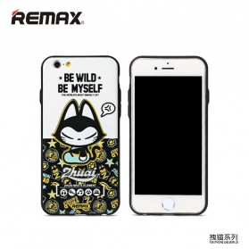 Remax Cat Cartoon Protective Hard Case for iPhone 6s Plus - Model 4