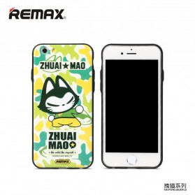 Remax Cat Cartoon Protective Hard Case for iPhone 6s Plus - Model 6