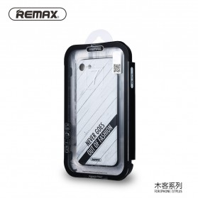 Remax Muke Series TPU Protective Soft Case for iPhone 7/8 - Black/Gray - 3
