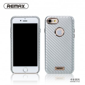 Remax Carbon Series Hard Case for iPhone 7/8 - Silver