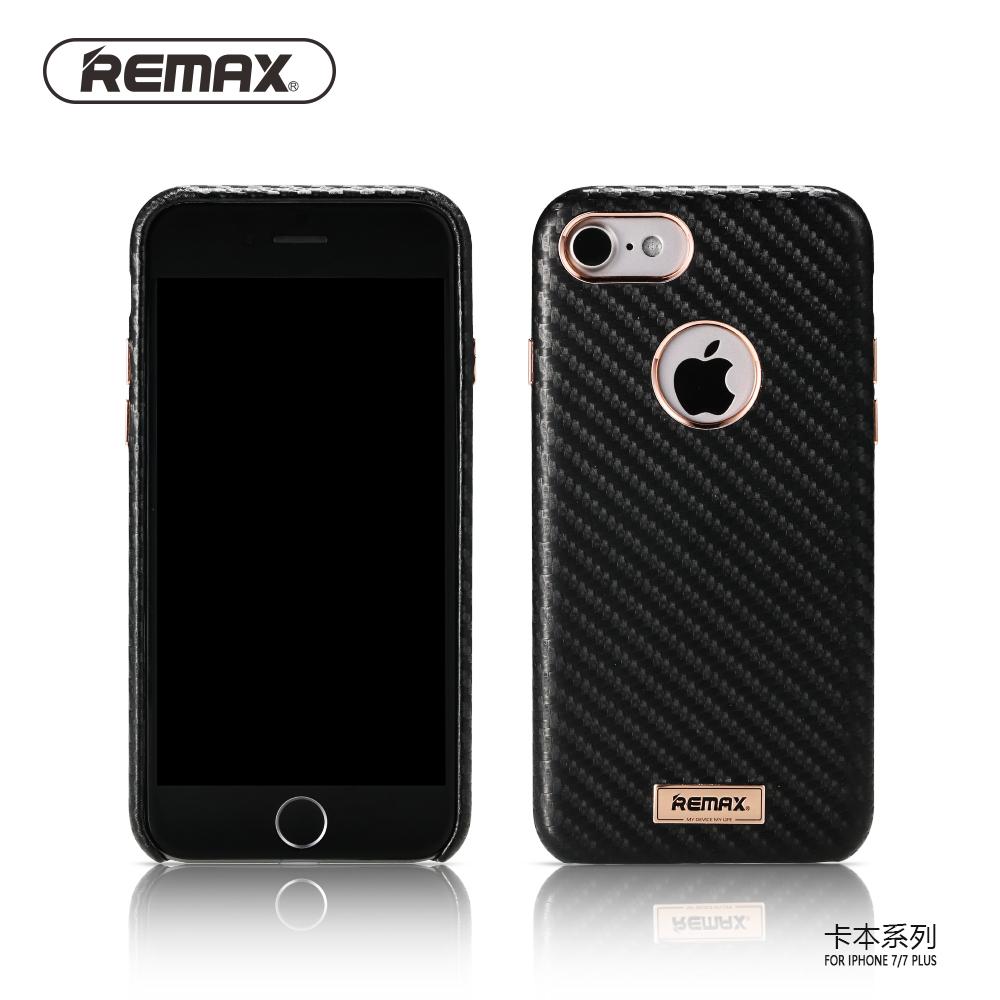 remax carbon series hard case for iphone 7 8 black. Black Bedroom Furniture Sets. Home Design Ideas