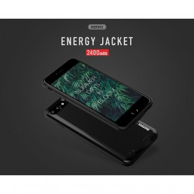 Remax Energy Jacket Power Bank Case 2400mAh for iPhone 7 - Black - 3