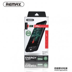 Remax Energy Jacket Power Bank Case 2400mAh for iPhone 7 - Black - 8