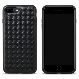 Remax Weave Series Leather Hard Case for iPhone 7/8 Plus - Black