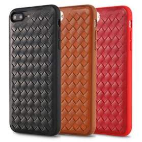Remax Weave Series Leather Hard Case for iPhone 7/8 Plus - Black - 2