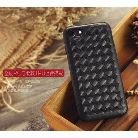 Remax Weave Series Leather Hard Case for iPhone 7/8 Plus - Black - 5