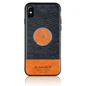 Remax Magnetic Series Crocodile Hardcase for iPhone X - Black