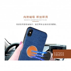 Remax Magnetic Series Crocodile Hardcase for iPhone X - Black - 2
