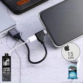 Remax 2in1 Kabel Charger Lightning dengan Lightning Audio Converter 15CM - RL-LA01 - Black - 1