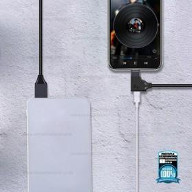 Remax 2in1 Kabel Charger Lightning dengan Lightning Audio Converter 15CM - RL-LA01 - Black - 2