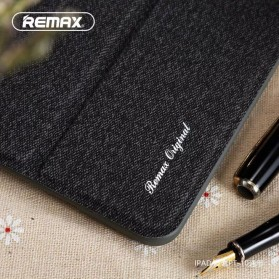 Remax Leather Case + Pencil Stylus Holder for iPad 9.7 Inch - PT-10 - Black - 2