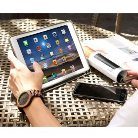 Remax Leather Case + Pencil Stylus Holder for iPad 9.7 Inch - PT-10 - Black - 8