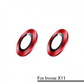 Remax Creation Series Camera Ring Lens Protector Pelindung Kamera iPhone 11 - GL-59 - Red